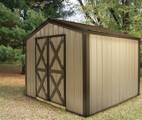 Storage Shed Plans Menards by Midwest Manufacturing E Z Build 10 W X 12 D Gable Shed At