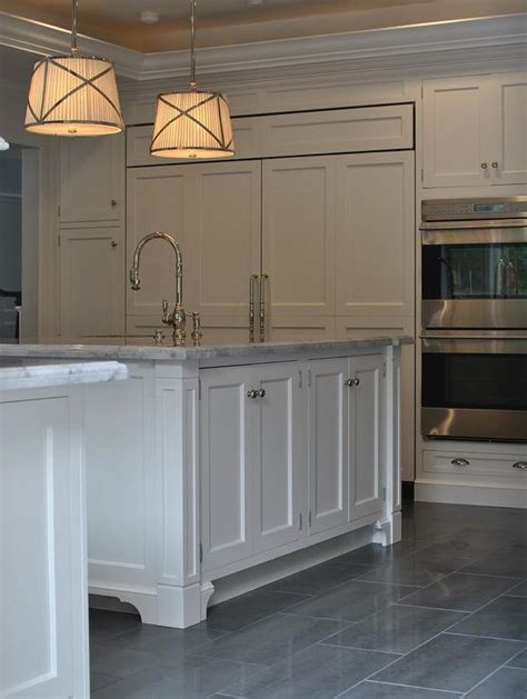 bathroom tile and paint ideas kitchen with gray staggered tile floor transitional