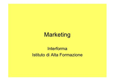 Dispense Di Marketing by Master In Marketing A Cagliari Dispense