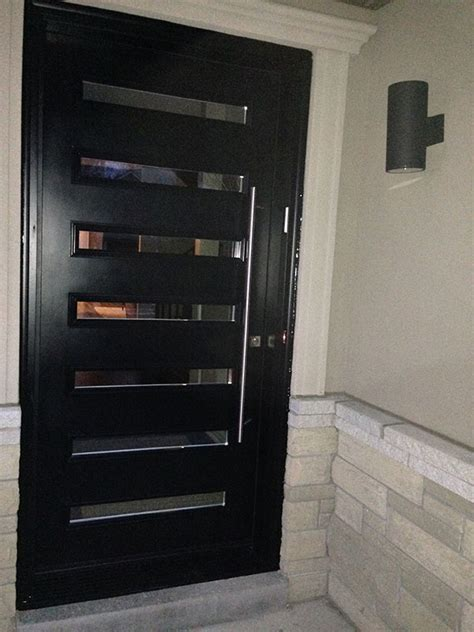 modern flush glazed fiberglass doors  clear door lites