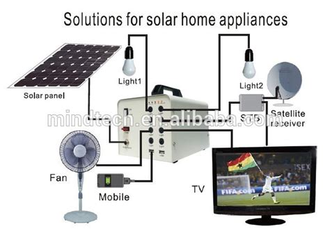 portable solar home lighting system led solar light kit