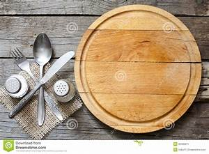 Cutlery And Vintage Empty Cutting Board Food Background ...