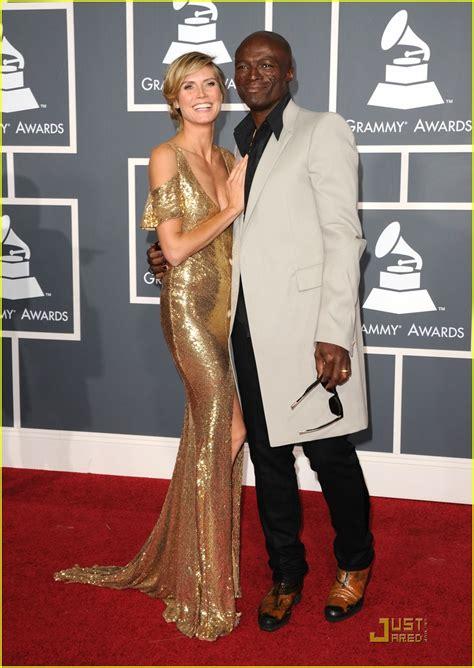 Heidi Klum Seal Grammys Red Carpet Kiss Photo