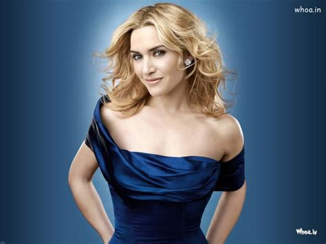kate winslet  blue dress hot photoshoot