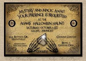 83 best margaret lu lu39s 7th birthday images on pinterest With scary halloween wedding invitations