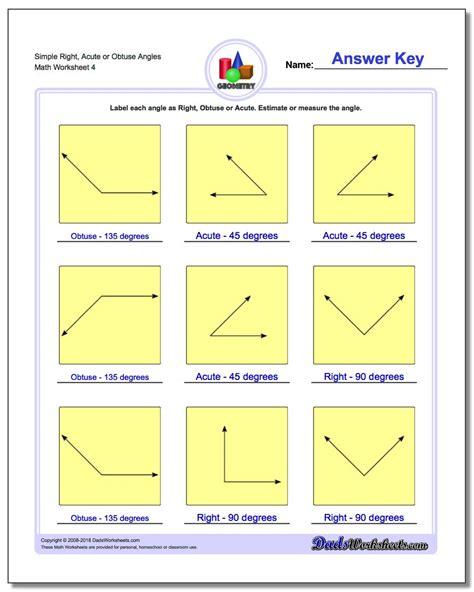 angles  obtuse acute