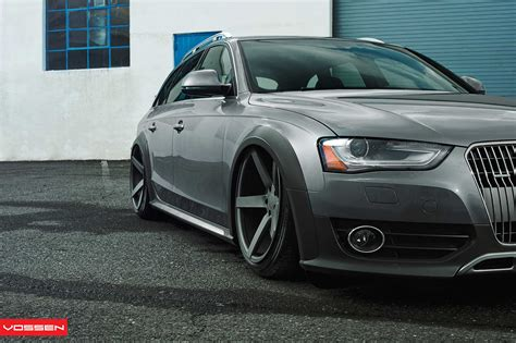 audi a4 slammed slammed audi a4 allroad on vossen wheels
