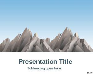 mountains powerpoint template