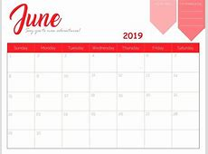 Free June 2019 Printable Calendar Templates Free