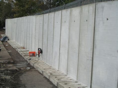 in wall l concrete bolt retaining wall jp concrete