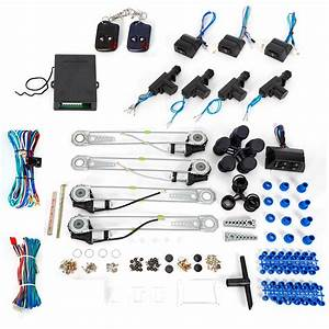 Universal 4door Electric Power Window Conversion Kit Car