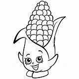 Coloring Corn Shopkins Candy Cob Season Dibujos Corny Colorear Printable Drawing Shopkin Colouring Template Getdrawings Sheets Pintar Ausmalbilder Desenhos Exclusive sketch template