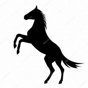 rearing up horse vector silhouette — Stock Vector ...