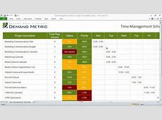 Time Management Schedule Template YouTube