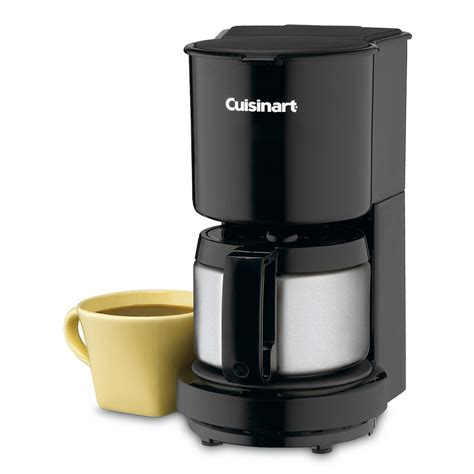 The thermal carafe is a steel water container that can keep the fluids warm for a long time; Cuisinart 4 Cup Coffee Maker W/stainless Steel Carafe (dcc-450bk) | Coffee Makers | For The Home ...
