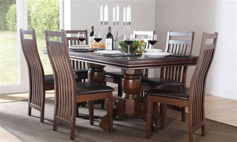 wood dining table   dark wood dining table set