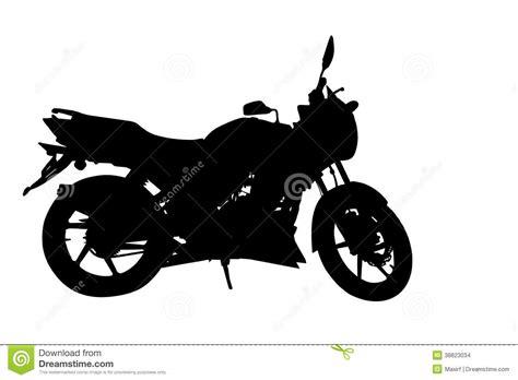 Side Profile Of Motorbike Silhouette Stock Vector