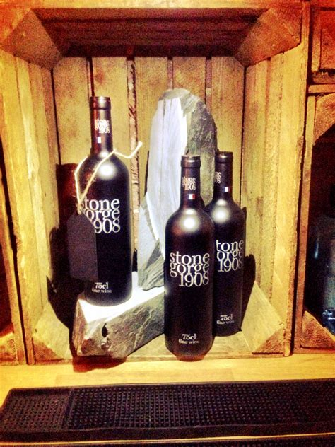bottle of gorge 1908 on our point of sale slate