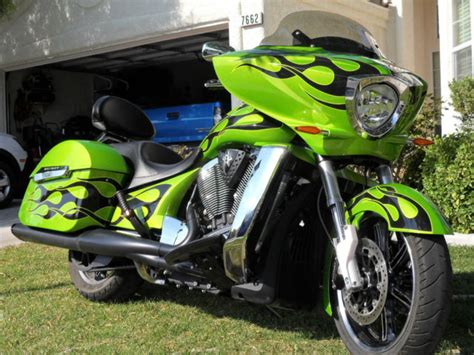 2013 Victory Cross Country Anti-freeze Green