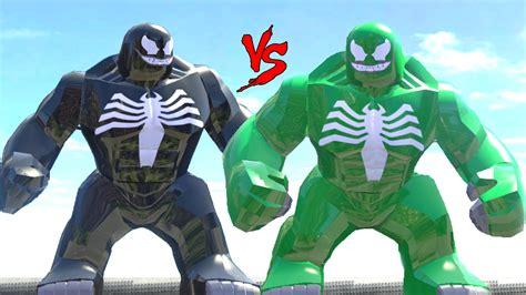 black venom vs green venom lego fight lego marvel