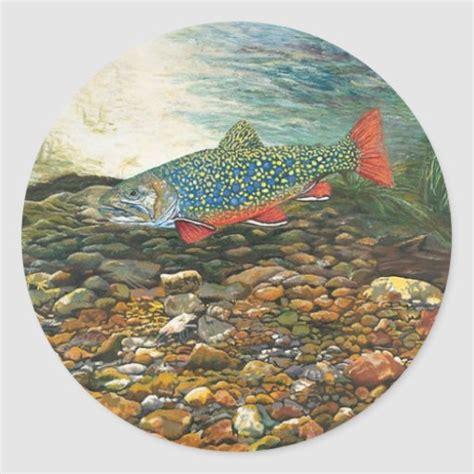 brook trout classic sticker zazzle