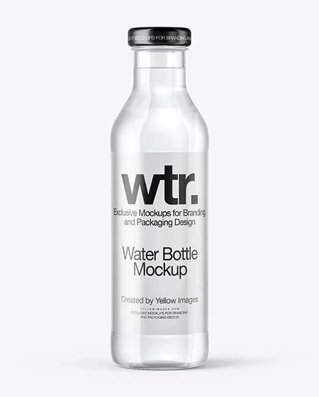 Layered psd through smart object insertion license: Clear Glass Water Bottle Mockup in Bottle Mockups on ...