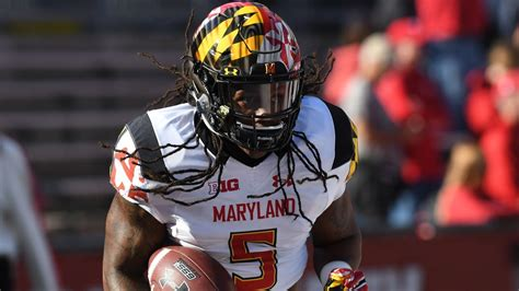 crowded maryland backfield running  anthony