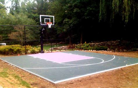 Backyard Basketball Court Layout Tips And Dimensions