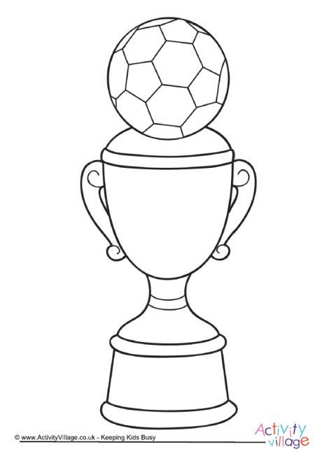 trophy colouring page