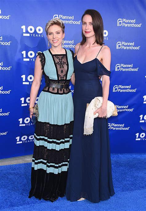 scarlett johansson  beautiful  blue elie saab dress
