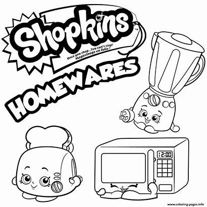 Shopkins Coloring Pages Season Printable Homewares Colouring
