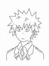 Coloring Bakugo Pages Katsuki Anime Printable Popular sketch template