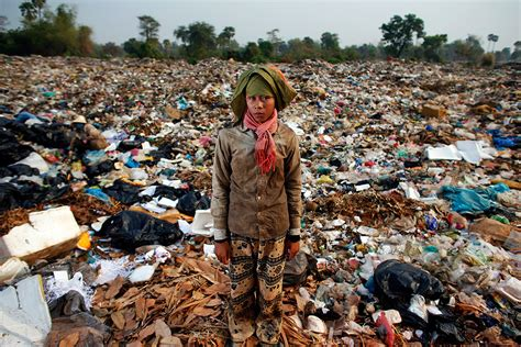 Children Scavenge At Anlong Pi Rubbish Dump Near