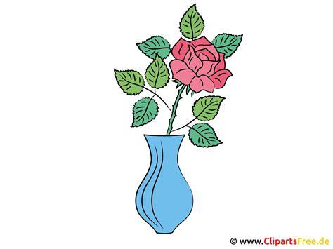 rose  vase bild clipart