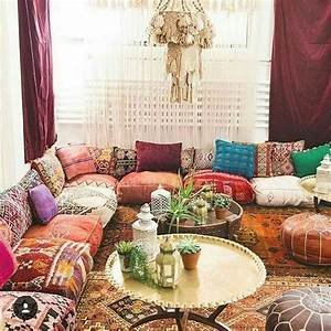 35, charming, boho, living, room, decorating, ideas, with, gypsy