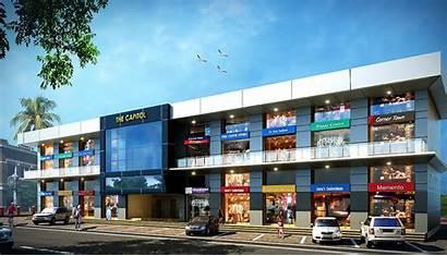 Commercial Complex Construction Building Buildings Stores Facilities