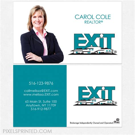 exit business cards  images realtor business cards