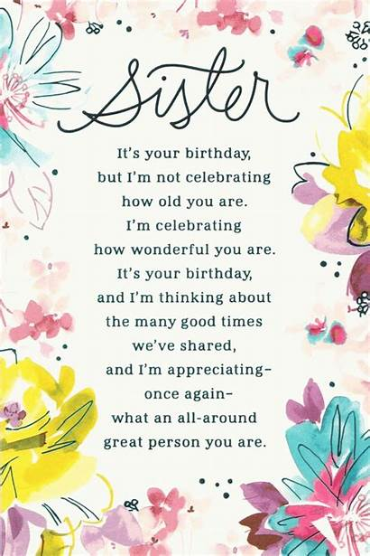 Sister Birthday Happy Greetings Quotes Card Funny