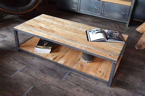 fabriquer table basse style industriel le bois chez vous