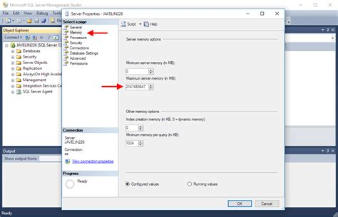 Setting a Microsoft SQL Standard Memory Limit for usage