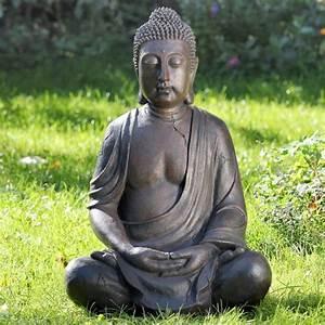 Buddha Figur 150 Cm : buddha figur 50cm aus kunstharz wetterfest dafloxx versand ~ Buech-reservation.com Haus und Dekorationen