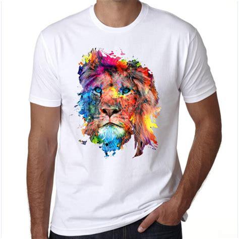 shirt psychedelic art  shirt black men women lion