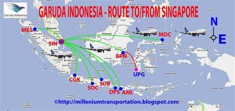 routes map garuda indonesia routes map