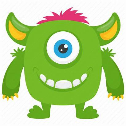 Monster Cartoon Halloween Character Characters Funny Icon