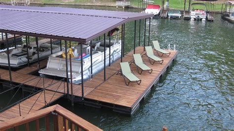 Floating Boat Dock Pics by Slip Floating Boat Dock With Patio Dock Design