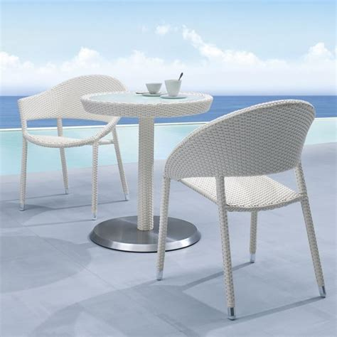 wicker outdoor bistro table and chair set outdoor pub