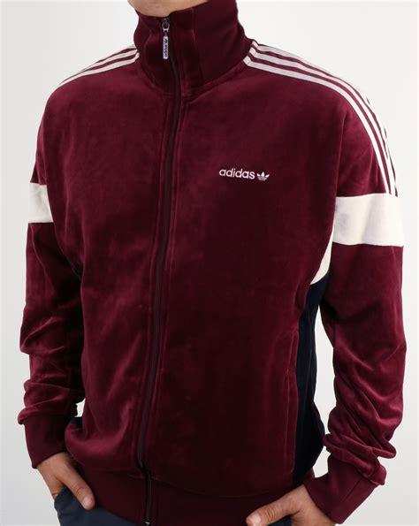 maroon velvet jacket mens adidas originals clr84 track top maroon tracksuit jacket