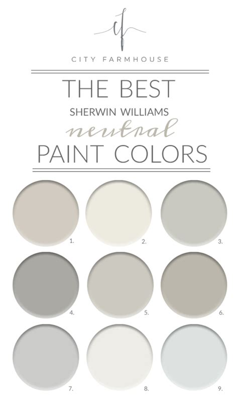 The Best Sherwinwilliams Neutral Paint Colors