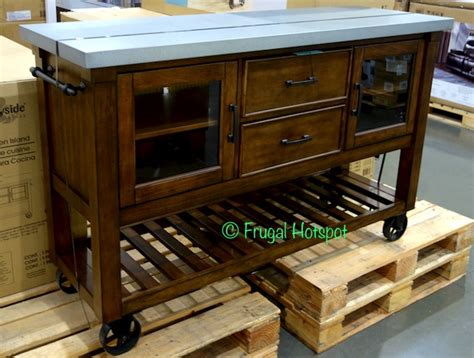 costco kitchen island costco bayside furnishings kitchen island 399 99 frugal hotspot