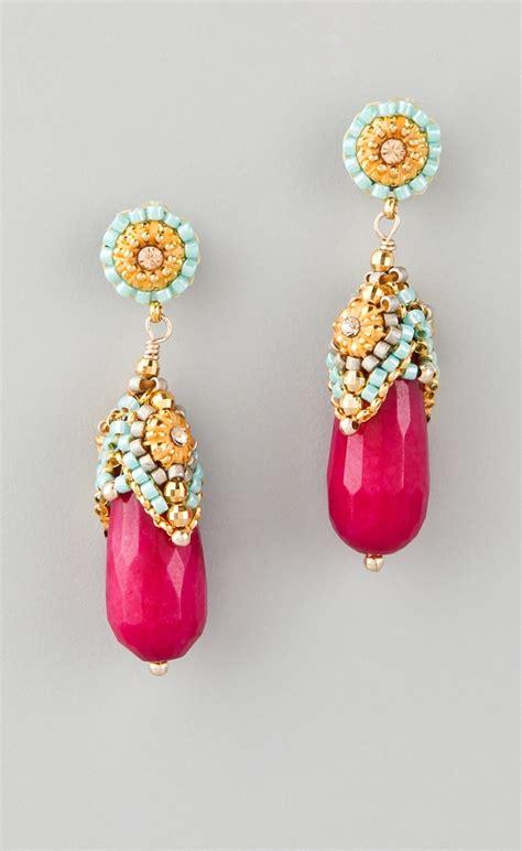 wear  miguel ases jade earrings  miyuki beads